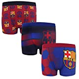FC Barcelona Official Soccer Gift 3 Pack Boys Crest Boxer Shorts 9-10 Years