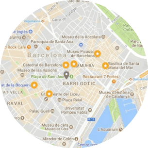 Barcelona Old Town and Barri Gotic Walking Tour Map