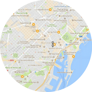 Barcelona Sightseeing Tour Map