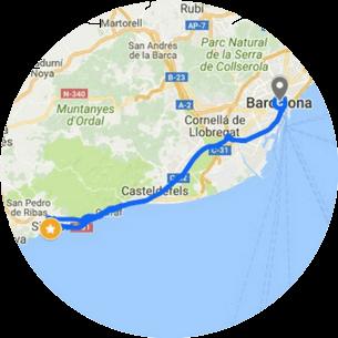 Sitges Tour Map