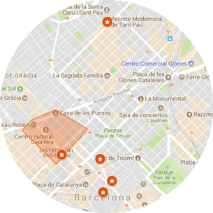 Barcelona Modernism tour Map