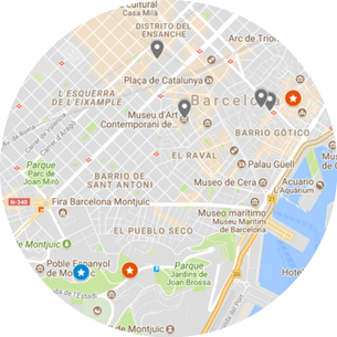 Barcelona Museum Tour Map
