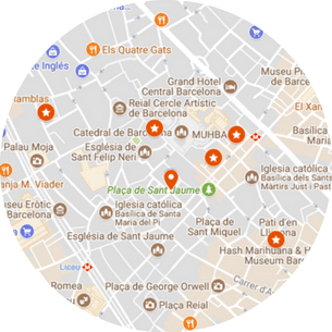 Barcelona Roman Ruins Tour Map