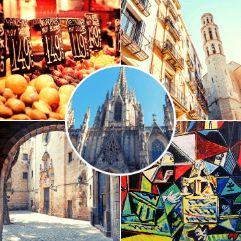 Walking Tour of Barri Gotic, Barcelona, Spain