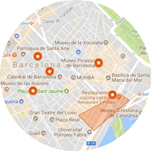 Picasso Tour of Barcelona Map