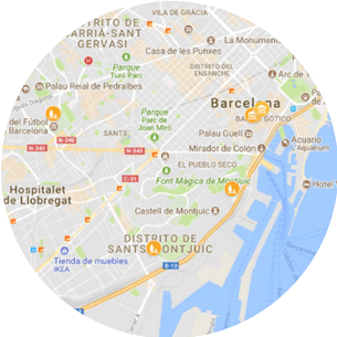 Private Jewish tour of Barcelona Map