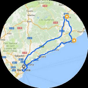 Girona Costa Brava Tour Map