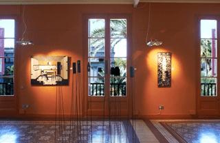 Visiting a Barcelona modern art gallery