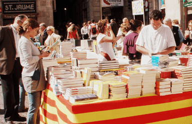 World Books Day: book stalls in Barcelona
