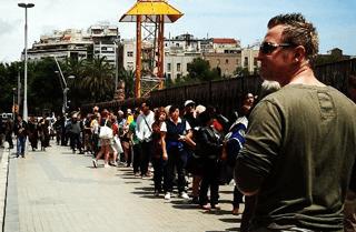 Sagrada Familia church lines