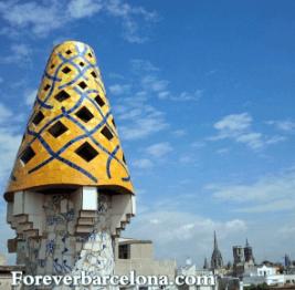 Yellow Chimney at Palau Guell