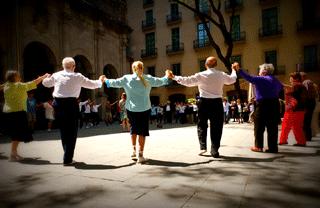Festes de la Merce: Sardana dancing