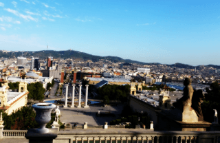 Barcelona city view from Montjuic