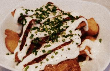 Barcelona patatas bravas - a classic tapa