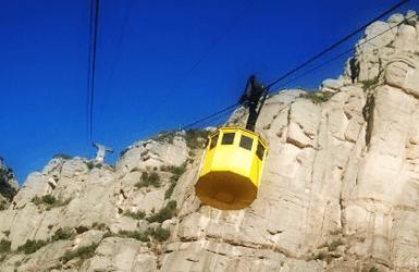 Visiting Montserrat by cablecar