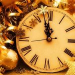 Count Down Clock for New Year Eve in Barcelona Spain