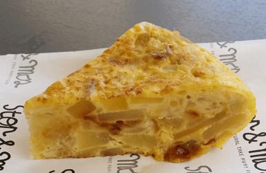 Spanish style eggs: tortilla