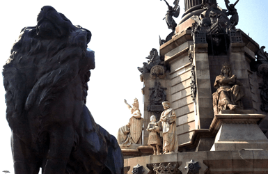 Ideas for families in barcelona: Columbus sculpture