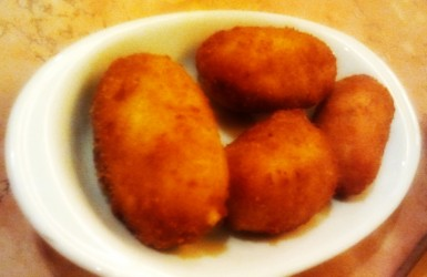 Ham croquettes recommended by Tour Guide Marga