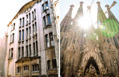 Guimard Synagogue and Gaudi Church
