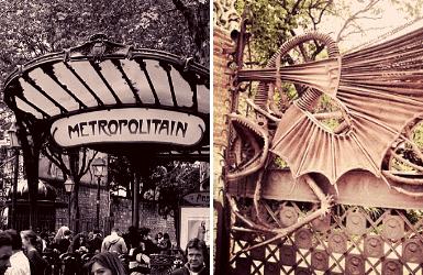 Guimard Metro Entrance vs Gaudi Dragon Gate