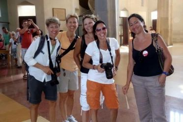 Guides and guests on a Sagrada Familia fast track guided tour with tower access