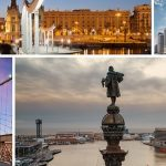 NYC and Barcelona sites collage