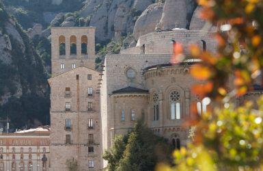 View of the Montserrat Basilica