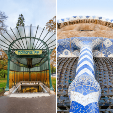 Architecture by Hector Guimard or Antoni Gaudi