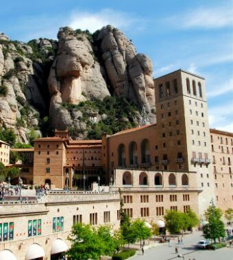 Monastery as seen in our Montserrat tours from Barcelona