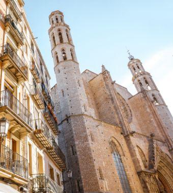 Santa Maria del Mar, part of our half day Barcelona city tours
