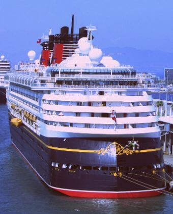 Cruise before picking up guests for our Barcelona day tours from port