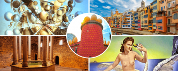 Sites from our Girona and Figueres tour from Barcelona
